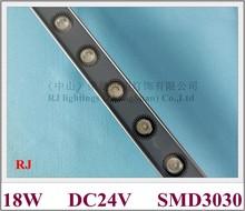 Lampe murale LED de lavage, SMD mur LED, éclairage à projecteur, aluminium SMD3030, dc24 v, 18 LED, 18W, 1000mm x 40mm x 25mm, nouveau style 2020