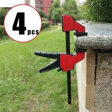 4/3/2 sztuk wysokiej quanlity 4 Cal quick Ratchet F zacisk Heavy Duty drewna pracy zacisk roboczy zestaw klipsów do obróbki drewna odwrotne mocowanie