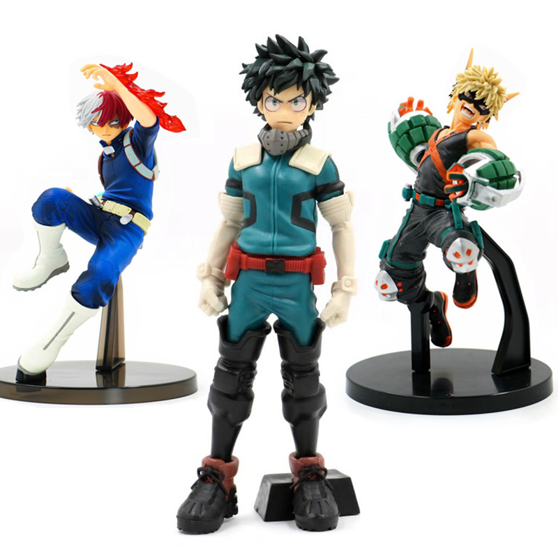 Anime My Hero Academia Figure 25cm Midoriya Izuku Deku Bakugou Katsuki Todoroki Boku No Hero Academy Action Figure Pvc Model Toy