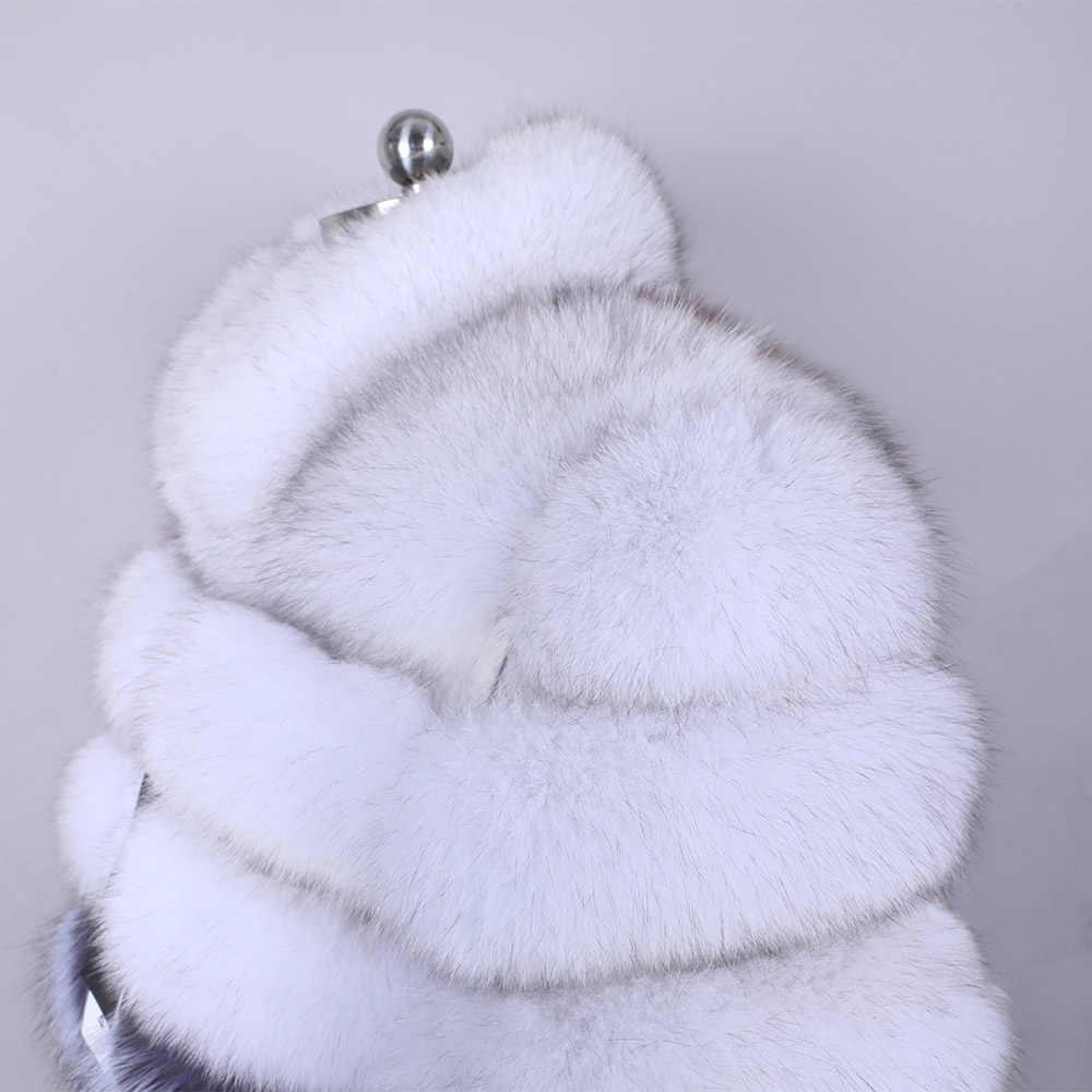 100% gerçek kürk ceket kadın sıcak ve şık doğal fox kürk ceket yelek standı yaka uzun kollu deri ceket doğal kürk mantolar