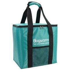 Складная сумка-холодильник 20 л, плотная Термосумка из алюминиевой фольги, портативная Термосумка для еды, пикника, обеды, термоохлаждающие ...