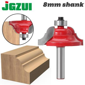 1pc High Quality Double Roman Ogee Edging Router Bit - Large 8mm shank Dovetail Cutter wood working - discount item  50% OFF Machinery & Accessories