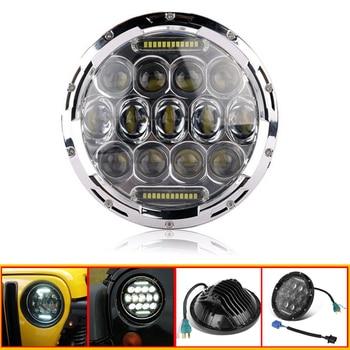 """7"""" LED Headlight H4 Plug 12V 3550lm Motor Headlamp Bulb IP68 for Harley Davidson Touring Models 1994-2013"""