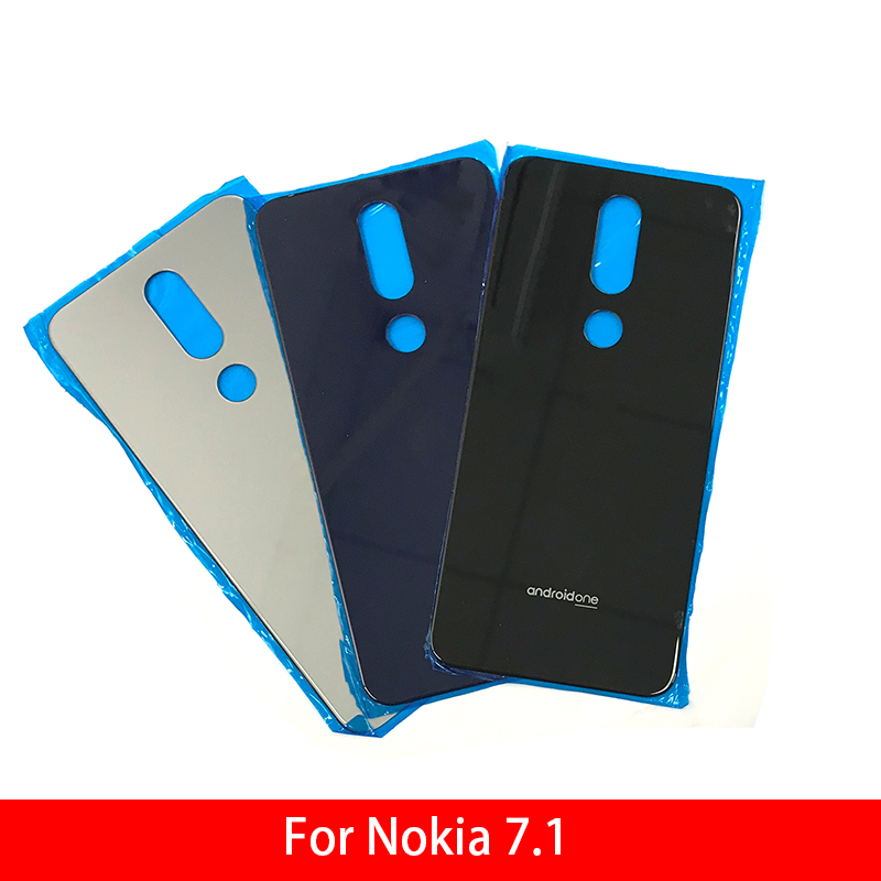 Back Glass Rear Cover For Nokia 7.1 Battery Door Housing Battery Back Cover