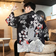 2019 Japanese Kimono Men / Women Cardigan Jacket Blouse Clothes Retro Clothing Male