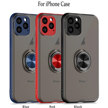 Scrub Mobile Shell For iPhone 11 Xsmax xr xs s 6s 6 7 8 Plus Magnetic Fingerprint Suction Finger Solid Color Thin Protection