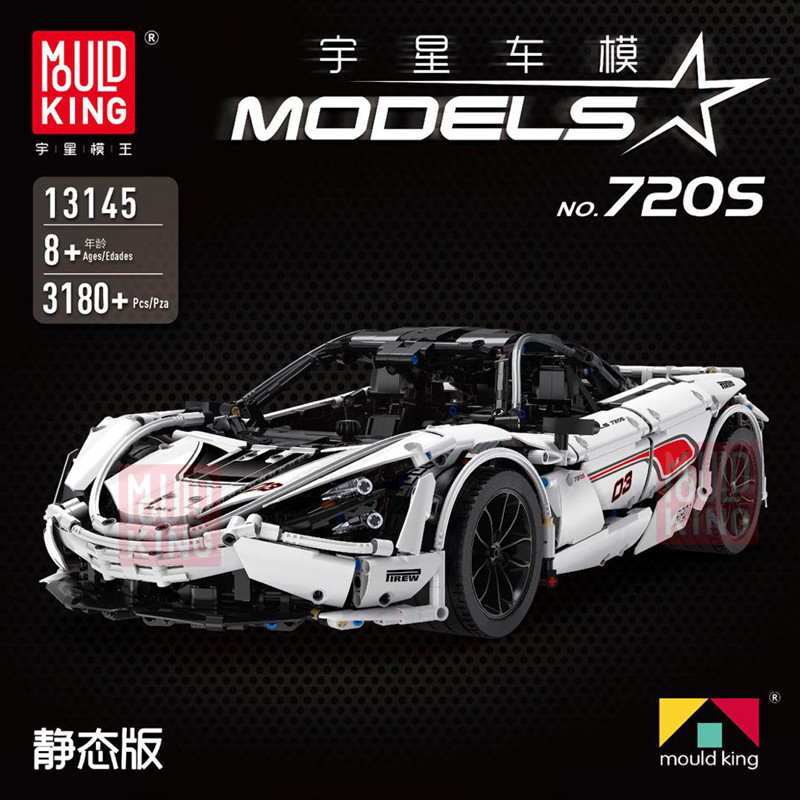 New McLaren 720S APP RC Technic Series Racing Car 13145 Compatible Iegos MOC Building Blocks Bricks Model Toys Gifts Lepinbricks