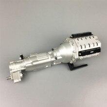 Ağır hizmet yedek Metal iki hızlı V8 motor şanzıman 1/10 eksenel SCX10 II 90046 RC araba parçaları