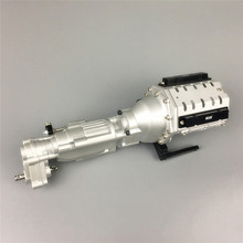 כבד החובה החלפת מתכת שתי מהירות V8 מנוע תיבת הילוכים עבור 1/10 צירי SCX10 השני 90046 RC רכב חלקים
