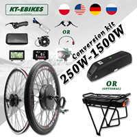 Kit eBike 36V 500W 48V 750W 1000W 1500W delantero trasero e-Rueda de bicicleta de Motor de cubo bicicleta eléctrica Kit de conversión de bicicleta con batería