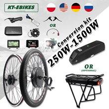 Kit de motorisation de vélo électrique avec moteur intégré dans le moyeu de la roue avant/arrière, 36V, 500W, 48V, 750W, 1000W, 1500W