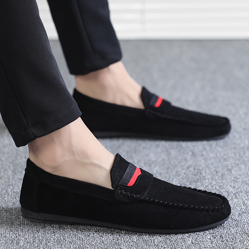 Casual Men Shoes Loafers Slip-on Male Driving Moccasins Breathable Comfy Non-slip Outdoor Walking Flats Comfortable Footwear