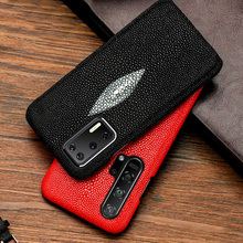 Genuine Pearl Gourami Leather Phone Case For Huawei P30 Lite P20 P40 Pro Mate 20 30 Lite Cover For Honor 20 Pro 9 10 20i 8x 9x diamond case for huawei p30 p20 pro lite cover for huawei mate 20 pro honor 10 20 8x 9x nova 3 5 4 e glitter ring holder cases