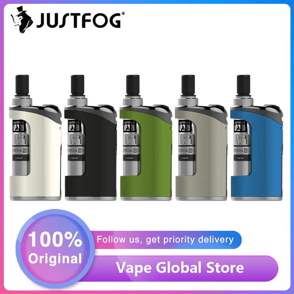 E Cigarette JustFog Compact 14 Kit 1500mah Vape Starter Kits With 1.8ml Clearomizer Vs JustFog Q16 E Cigarette Vape / Vinci X