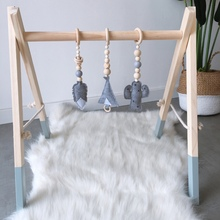 Funny Nordic Style Cartoon Solid Wood Felt  Hanging DecorationB Children Room Decoration Beads Accessories