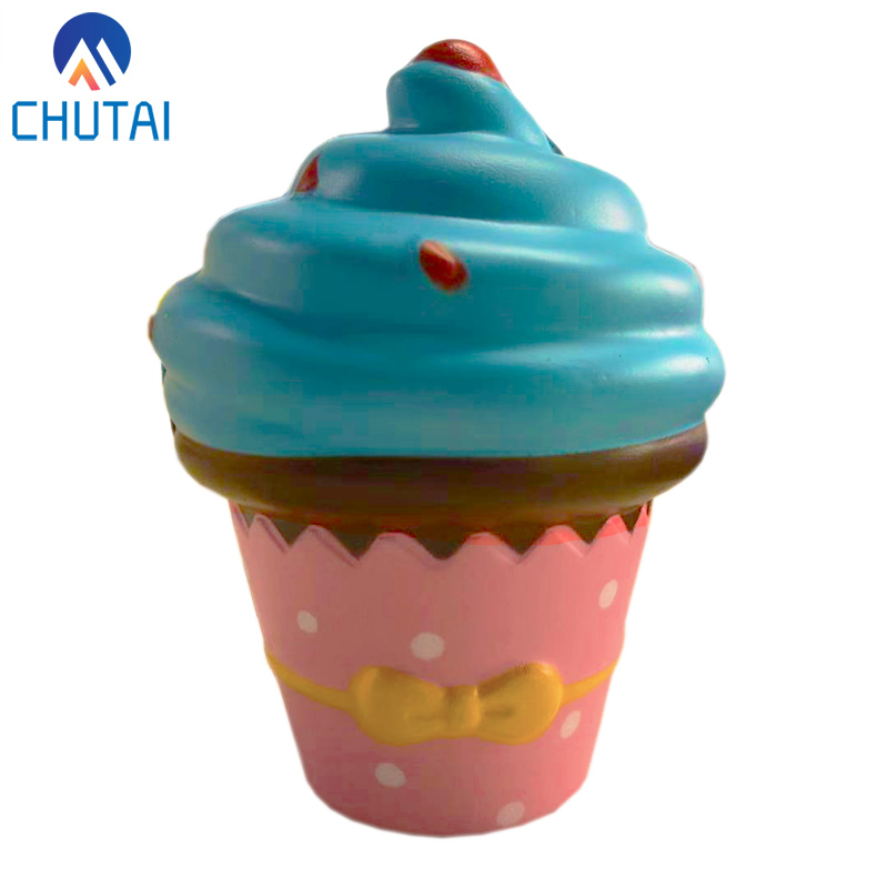 New Ice Cream Squishy Slow Rising Cute Jumbo Strap Soft Squeeze Scented Bread Cake Toy Gift Kid Fun 10*8 CM