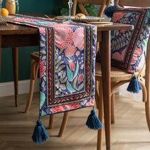 Embroidery Tablecloth Nordic Table Runner Custom Restaurant Hotel Bed and Breakfast Decoration Tablecloth