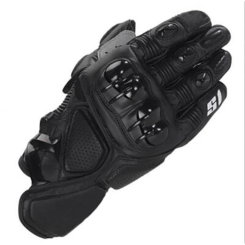Мотоциклетные короткие перчатки Moto gp pro S1, кожаные гоночные перчатки для мотокросса, с черными звездами