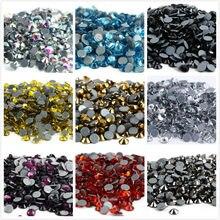Ss3, ss4,ss8,ss12 ss34 pedras de cristal para vestuário, pedras de strass com glitter, brilhantes e traseiras