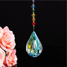Colorful Jewelry AB Color Crystals Pendants &Chandelier Suncatchers Prisms Hanging Ornament Rainbow Crystal