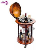 Mobilya'ten Musandıra'de VidaXL zarif Bar küre şarap braketi depolama çoklu şişeler ve gözlük ev mutfak Bar aksesuarları şarap tutucu destekçisi