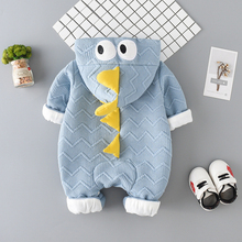 Rompers Hooded-Jumpsuit Animal-Patchwork Long-Sleeve Girl Boy Cute Cartoon Zipper Stylishwarm