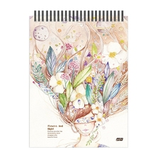 50 Sheets A4 Paper Watercolor Sketch Book Notepad for Painting Drawing Diary Journal Notebook Sketchbook with Spiral Wire