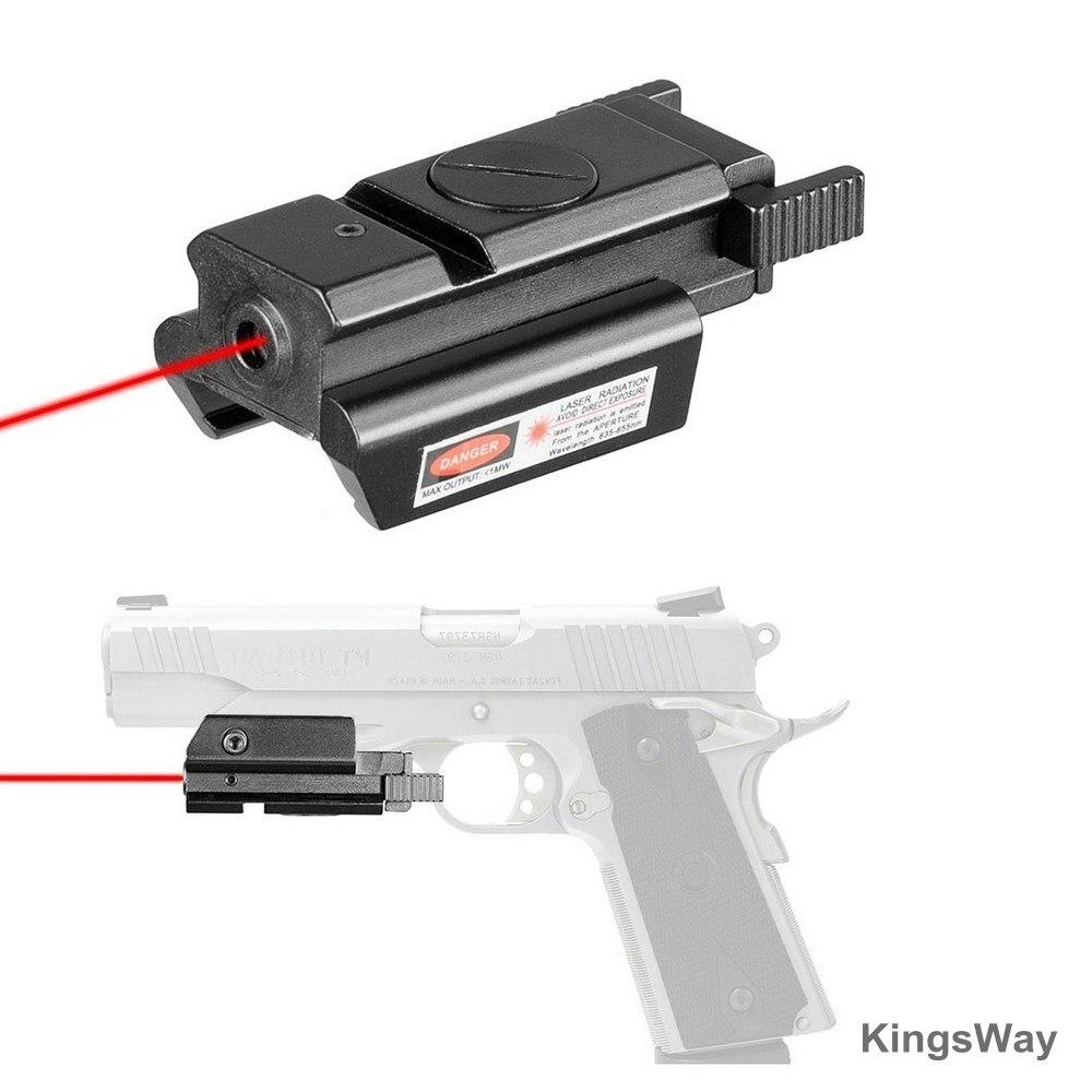 Охотничий компактный лазерный прицел с красной точкой и креплением Пикатинни для пистолета