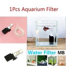 1Pcs Aquarium Filter Aquarium Ultra Stille Mini Mute Pneumatische Filter Zuivering Tool Waterzuiveraar Voor Vis Garnalen Tank