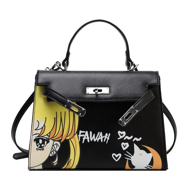 Japanese Cosplay Sailor Moon Cat Ear Women Cross Satchel Messenger Shoulder Bag