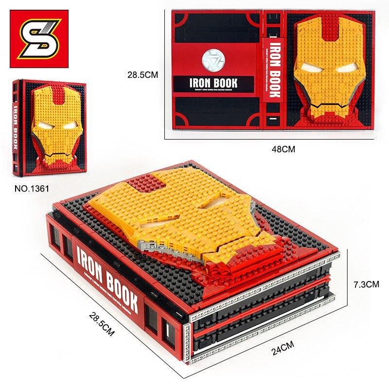 Горячие идеи создателя супер герой Железный человек книжная коробка база Gnaku зал доспехов фигурки строительные блоки Наборы комплекты кирпичей детские игрушки город - 4