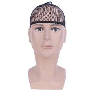 1 комплект, крутая сетка, косплей, черный цвет, шиньон, парик, кепка, растягивающаяся, эластичная сетка для волос, снуд, парик, шапка