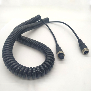 Image 5 - 4Pin Luftfahrt Kopf zu Luftfahrt Kopf Kabel Verlängerung Kabel Kamera Video Ausrüstung 5m Frühling Draht Wasserdicht