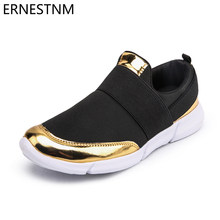Flat Shoes Gold Women Shoes Breathable Women's Flat Shoes Casual Loafers Slip on Soft Moccasins Lady Driving Shoes ERNESTNM(China)