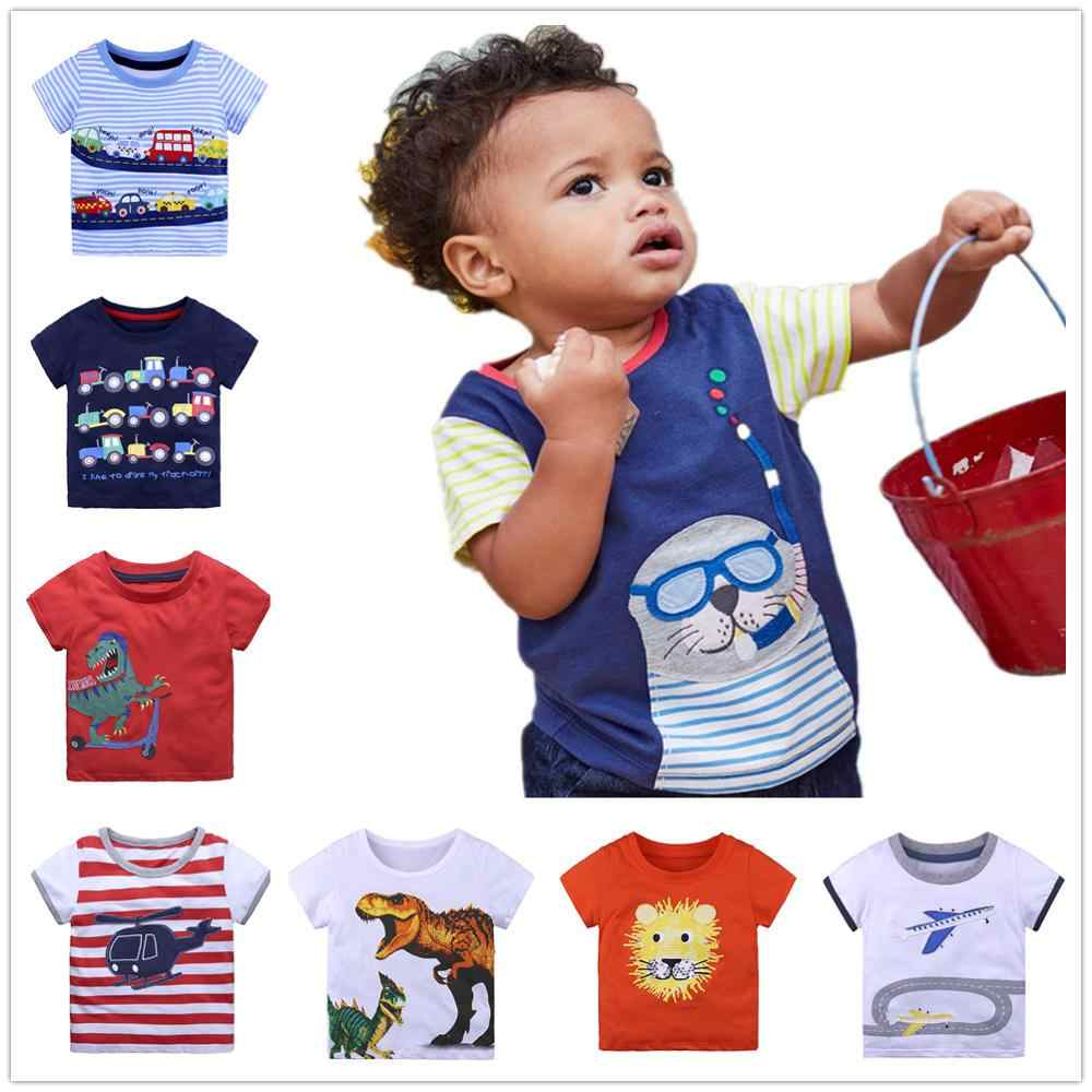 Boy t shirts Infant Boys Tee Shirts Short Sleeve Baby Boy's t-shirt Kids Top 100% Cotton tshirt Jersey Soft Blouse 1 2 3 4 5 6 T