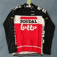 2020 neue pro team lotto soudal winter fleece rot radfahren jersey herren wärmer bike tuch MTB Ropa Ciclismo Fahrrad maillot|Rad-Trikots|Sport und Unterhaltung -