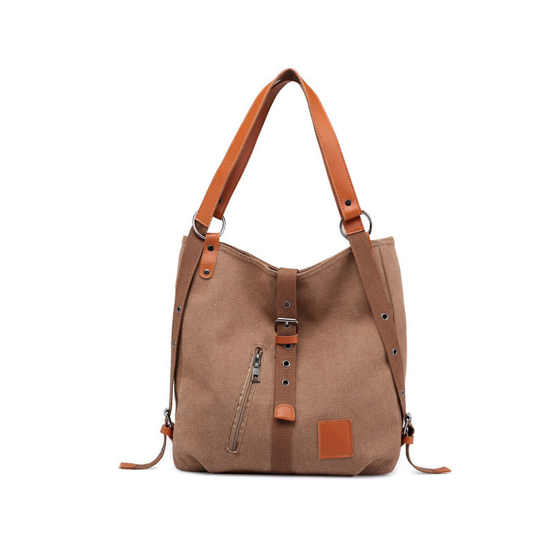 Canvas Women Shoulder Bags High Quality Multifunction Women Back Pack For Students School Travel Bags Large Capacity