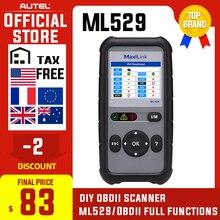Диагностический сканер Autel Maxilink ML529, инструмент для диагностики OBDII EOBD OBD2, автоматическая лампа для проверки двигателя, считыватель кодов неисправностей с улучшенным режимом 6