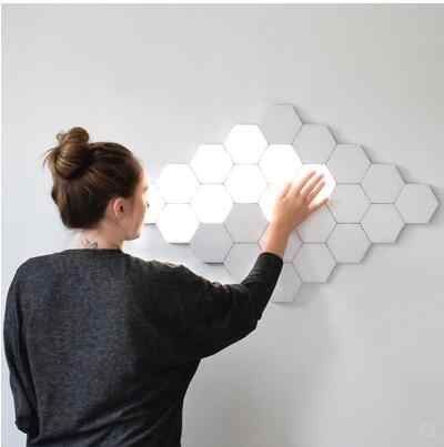 UK Modular LED Touch Quantum โคมไฟรังผึ้ง Assembly Creative Helios Touch Touch Touch โคมไฟ