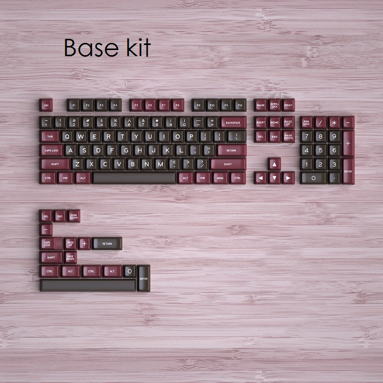 MAXKEY SA Keycaps Double Shot ABS Keycap Set Add On Kits Retor For Cherry Mx Mechanical Keyboard