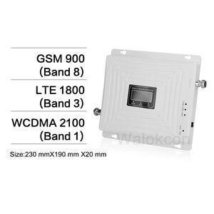 Image 2 - GSM 900 DCS 1800 WCDMA 2100 MHz 셀룰러 신호 부스터 70dB 이득 2G 3G 4G 트라이 밴드 모바일 신호 리피터 GSM B1 B3 증폭기