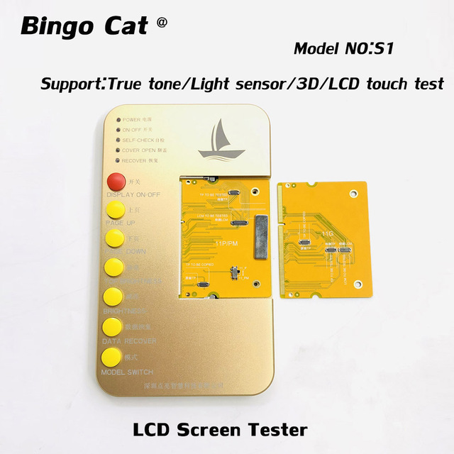 S1 Display Digitizer LCD Tester Tool Box+PCB Board For iPhone 6s to 8p X XR XS MAX 11 pro Motherboard Touch Screen 3D Touch Test