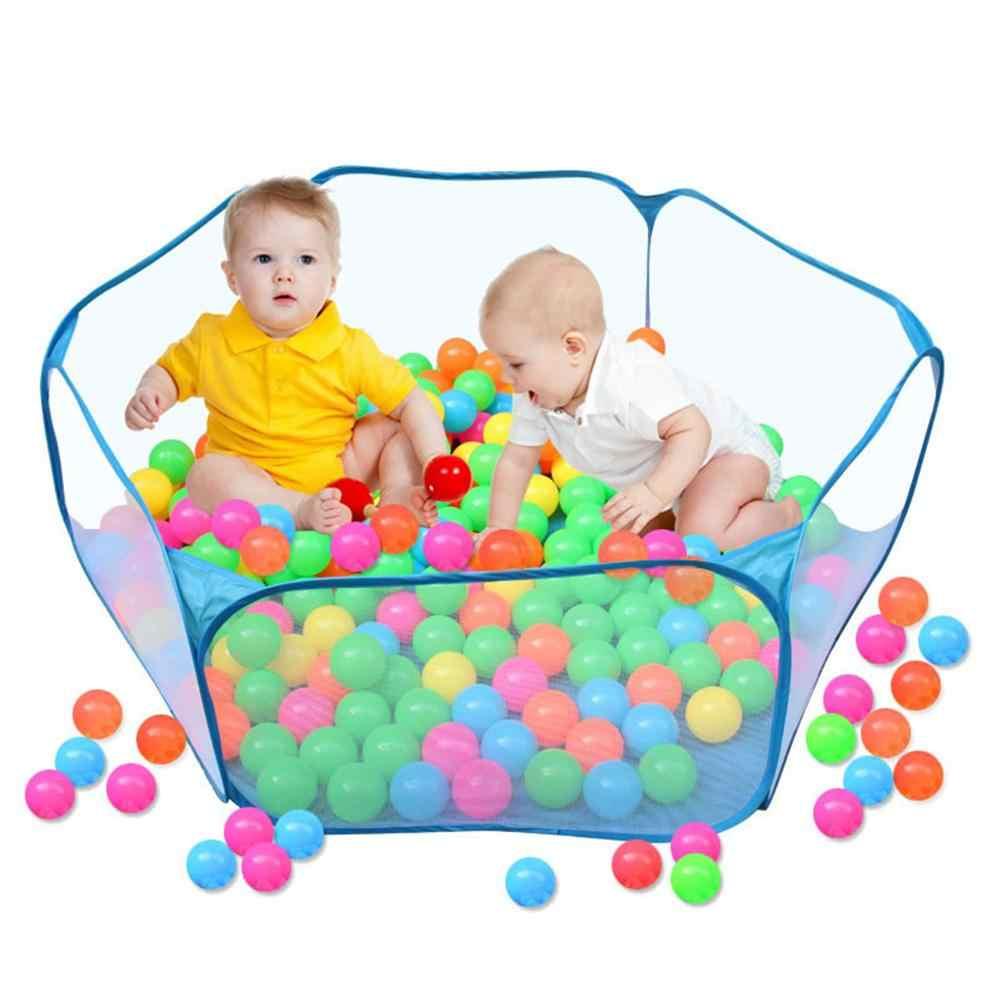 Piscina de bola de océano plegable portátil de interior al aire libre para niños con bolsa de transporte