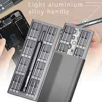 JAKEMY 49 en 1 Conjunto de puntas de destornillador de precisión herramientas de reparación teléfonos ordenadores destornillador S-2 tornillo de caja para Driver teléfonos Tablet PC