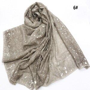 Image 2 - Новый мусульманский хиджаб 90*180 см, шарф для женщин, исламский мягкий Блестящий головной платок, женский платок, простые шали и палантины, Женский палантин