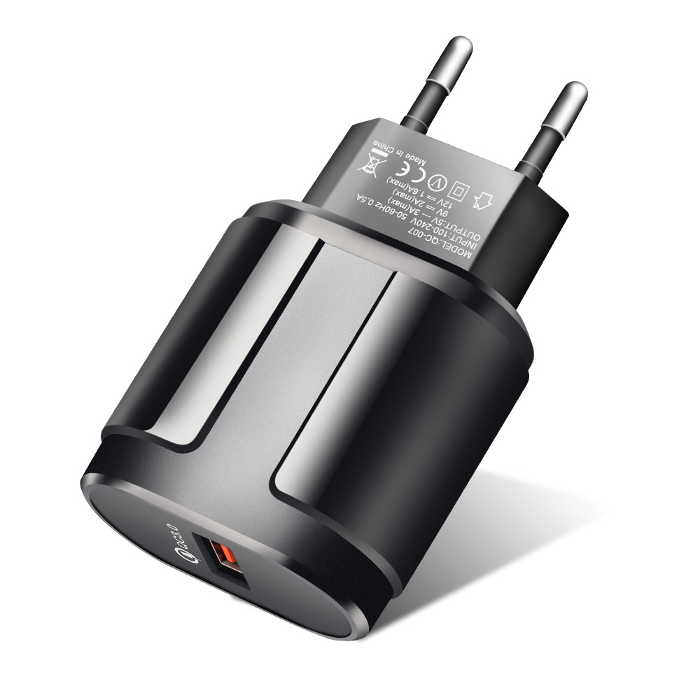 ROCK Quick Charge QC3.0 USB US EU Fast Charger Universal Mobile Phone Charger Wall USB Charger Adapter For IPhone Samsung Xiaomi