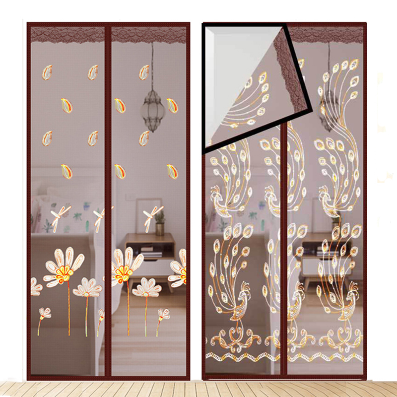 Anti Insect Fly Bug Mosquito Door Curtains Magnetic Door Screen Mesh Net Automatic Closing Rideau De Porte 90*210cm/100*210cm