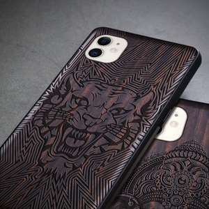 Image 4 - ブラックウッド11プロケースiphone 11プロマックスケース木製se 2020カバーtpu coque iphone 7 8プラスx xr xs 11プロマックスfunda