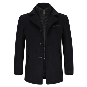 YOUTHUP Wool Blends Men Coats With Vest Single Breasted Autumn Overcoats Topcoat Mens Business Coat Streetwear 3 Colors
