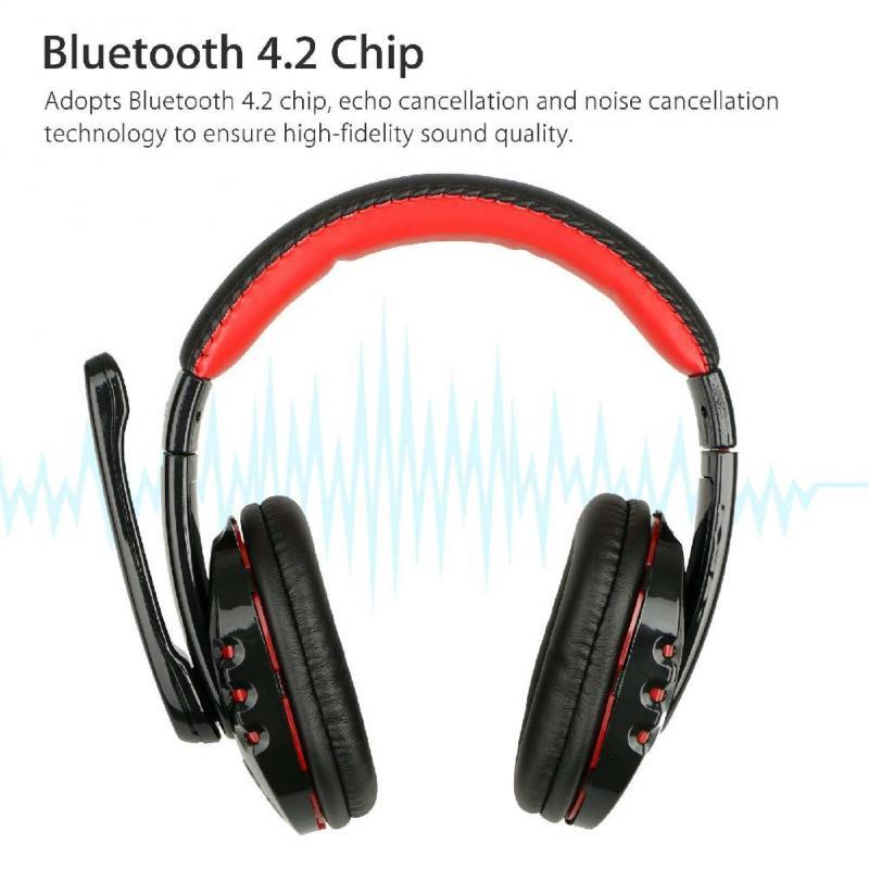 Высоко-бас Беспроводной Bluetooth гарнитура С микрофоном игровые голос Фирменная Новинка Высокое качество для Ipad компьютера смартфон